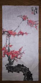 手绘真迹国画:陈静花鸟画25(2尺x1尺)