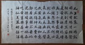 手书真迹书法:天津市书协会员王松泉楷书《莫生气》