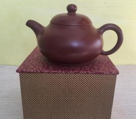 收到大红袍紫砂壶一个、