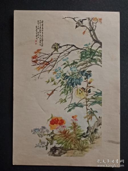 55年老画片(秋丛虫鸟)(程璋作