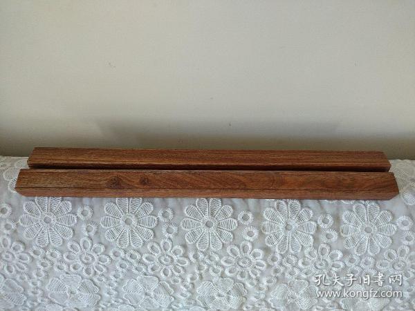 花梨木镇尺一对   详见图片  长49.8宽3厚2.6