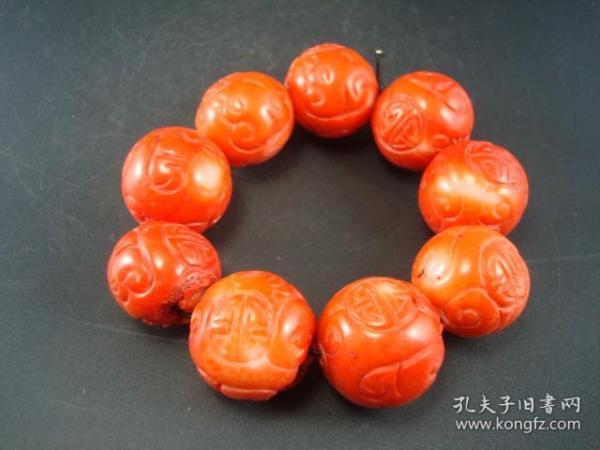 旧藏福寿圆珠手串
