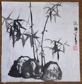 手绘真迹国画:陈静花鸟画01(1尺x1尺)
