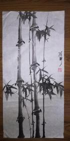 手绘真迹国画:陈静花鸟画14(2尺x1尺)