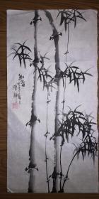 手绘真迹国画:陈静花鸟画17(2尺x1尺)