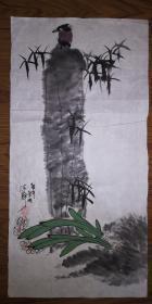 手绘真迹国画:陈静花鸟画27(2尺x1尺)