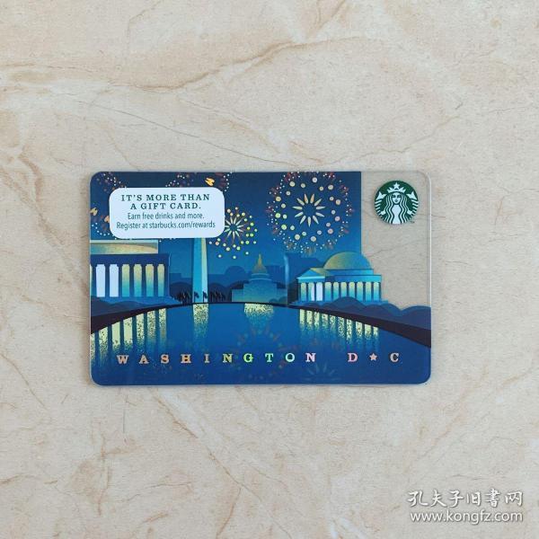 美国星巴克城市星礼卡 华盛顿收藏卡