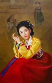 姜善香 超写实油画 朝鲜油画