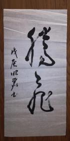 手书真迹书法:中书协会员孟昭丽草书《腾飞》(无钤印)