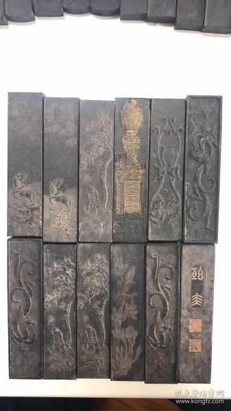 收藏级雕花描金老墨条,惜字如金,屠毒笔墨,任选99元/条