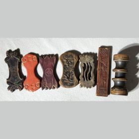 清代缠线板七个老物件古玩木雕漆器怀旧民俗老物件收藏品保真保老