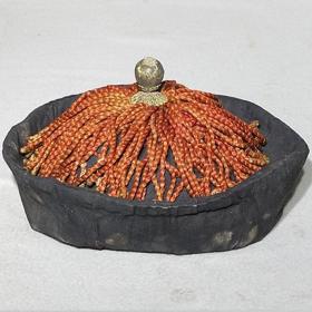 清朝官帽老帽子官员顶戴古玩老物件收藏品祖传帽顶子保真保老完整