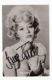好莱坞传奇影后 简·方达(Jane Fonda)早期亲笔签名照