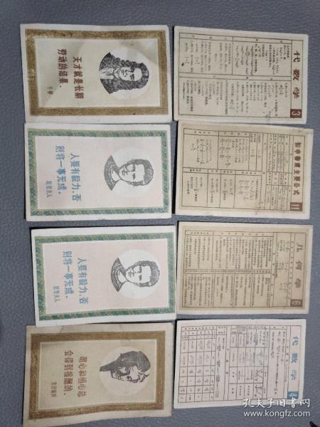 卡片【居里夫人,牛顿,爱因斯坦+代数学,几何学等8张】
