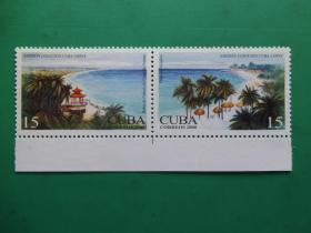 【古巴全新邮票】古巴与中国联合发行邮票:两国风光(2枚全)