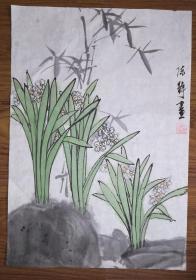 手绘真迹国画:陈静花鸟画05(1.5尺x1尺)