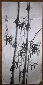 手绘真迹国画:陈静花鸟画08(2尺x1尺)
