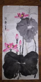 手绘真迹国画:陈静花鸟画23(2尺x1尺)
