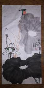 手绘真迹国画:陈静花鸟画24(2尺x1尺)
