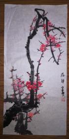 手绘真迹国画:陈静花鸟画26(2尺x1尺)