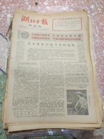 湖北日报农村版1966年4月22日(8开四版);毛主席指引我斗争的道路;学习《愚公移山》