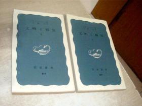 日文原版  文明と病気--日文原版书上下册 岩波新书,(青版)17.5*10CM,有点点轻微印痕