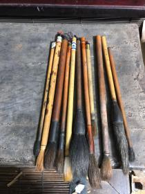 老书画家用过的一批毛笔,品相品种如图,有的是牛角的