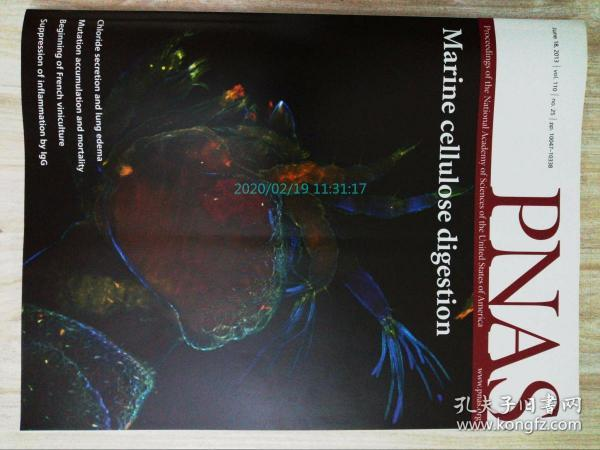 PNAS 2013/06/18 美国国家科学院院刊学术论文原版期刊外文杂志  Proceedings of the National Academy of Sciences of the United States of America