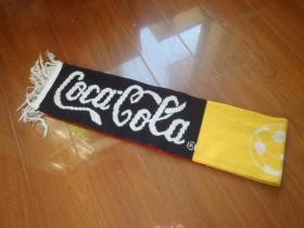 早期 可口可乐世界杯足球赛纪念围巾 可乐周边收藏