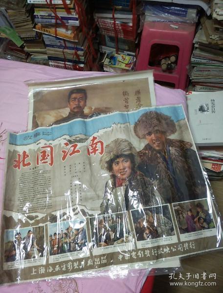 老电影海报《北国江南》【2开 560年代 保真】