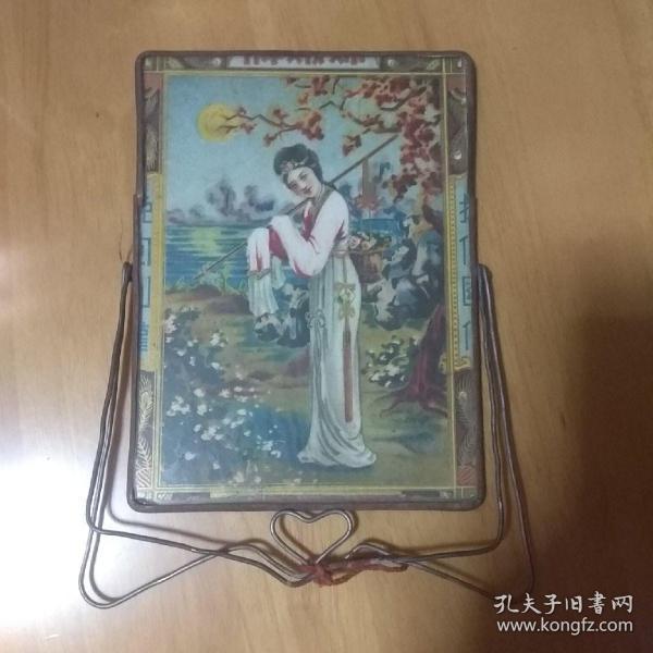民国梳妆镜 黛玉葬花 画像