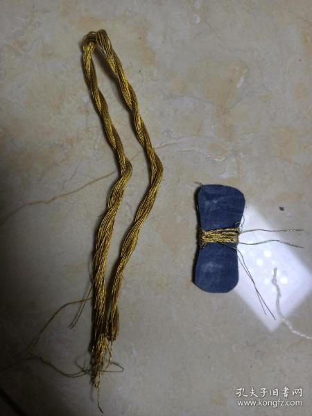清代刺绣衣服金线。