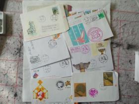 老信封之448:台湾1990年代空白带邮票、邮戳信封50个,大多数不重样(尺寸:约11*16cm)