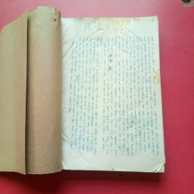 蒙文,不识书名,油印,251页