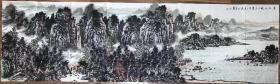 [保真]王本杰  245*69  纸本画心  1963年生于山东博山,1986年毕业于山东轻工美术学校,2000年结业于中国美协中国画高研班,2003年就读于中国艺术研究院研究生班。现为中国美术家协会会员、中国工艺美术家协会会员、北京墨彩画院副院长、民革中央画院画家、文化部全国青联委员、山东翰林画院院长、中国水墨研究院院士、广西师范大学客座教授、中国佛教艺术家协会展览部部长。