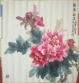 木小易_花鸟国画原作:木小易,原名杨金爱,牡丹皇后,职业画家。生于中国牡丹城,现居北京。深造于天津美院。