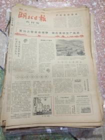 湖北日报农村版1966年4月15日(8开四版);发扬大寨革命精神掀起春耕生产高潮;张思德母亲学习《为人民服务》