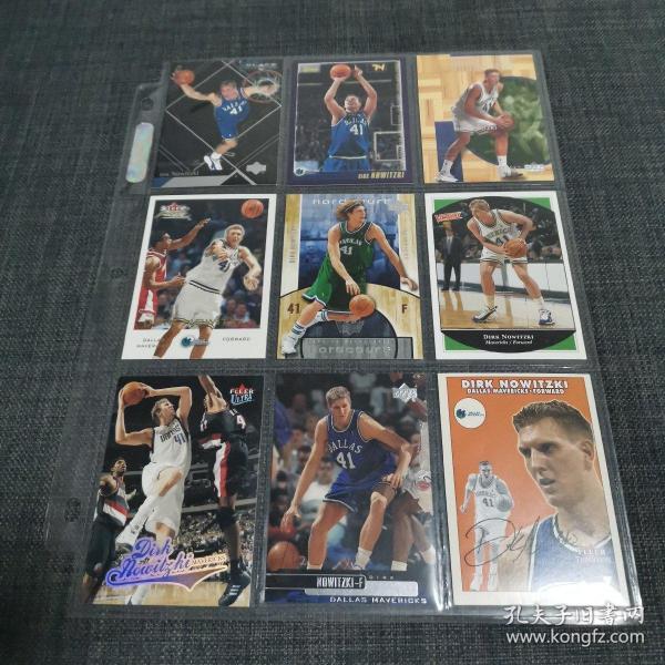 美国NBA球星诺维茨基DIRK NOWITZKI球星卡一组九张