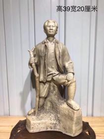文革时期毛主席瓷塑万里长征纪念塑像!