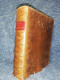 THE POETICAL WORKS OF HENRY WADSWORTH LONGFELLOW  树形纹理封面  烫金竹节皮脊  三面书口鎏金  19.5X14.5CM