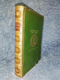 1910年  The Fables of Aesop  《伊索寓言》 含82副插图  私坊BICKERS全皮装帧 三面书口花纹  18.6X13CM