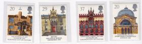 英国 1990 欧罗巴建筑 邮票