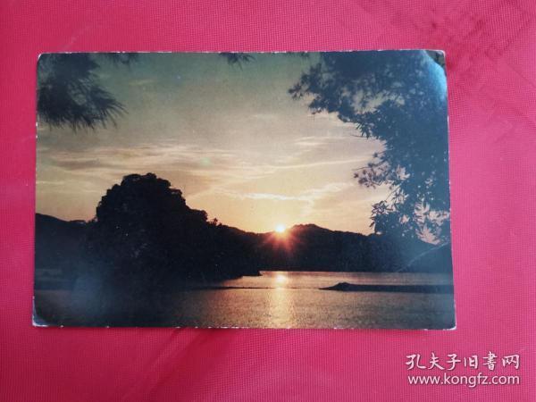 明信片:星湖日出