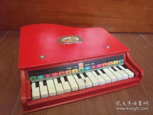 80年代 儿童玩具钢琴(破损) 怀旧老玩具收藏 影视道具
