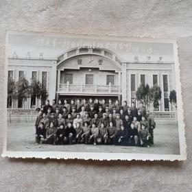 深县第一期电影训练班全体合影 1974年(背景文革礼堂)