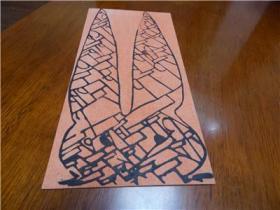 康剑飞教师木板版画签赠贺卡