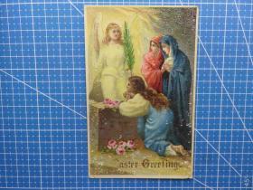 {会山书院}2#1910年3月24日英国(天使圣女)复古个性、问候祝福--手账、收藏专用--实寄手写明信片贴邮票