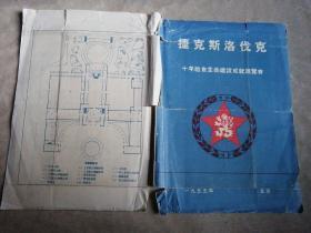包邮 展览馆宣传页 1955年 捷克斯洛伐克十年社会主义建设成就展览会