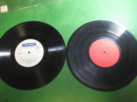 早期黑胶唱片,广播专用唱片2张