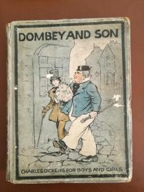Dombey and Son董贝父子(1941年英文原版书,硬精装,9幅整版彩页插图,精美)